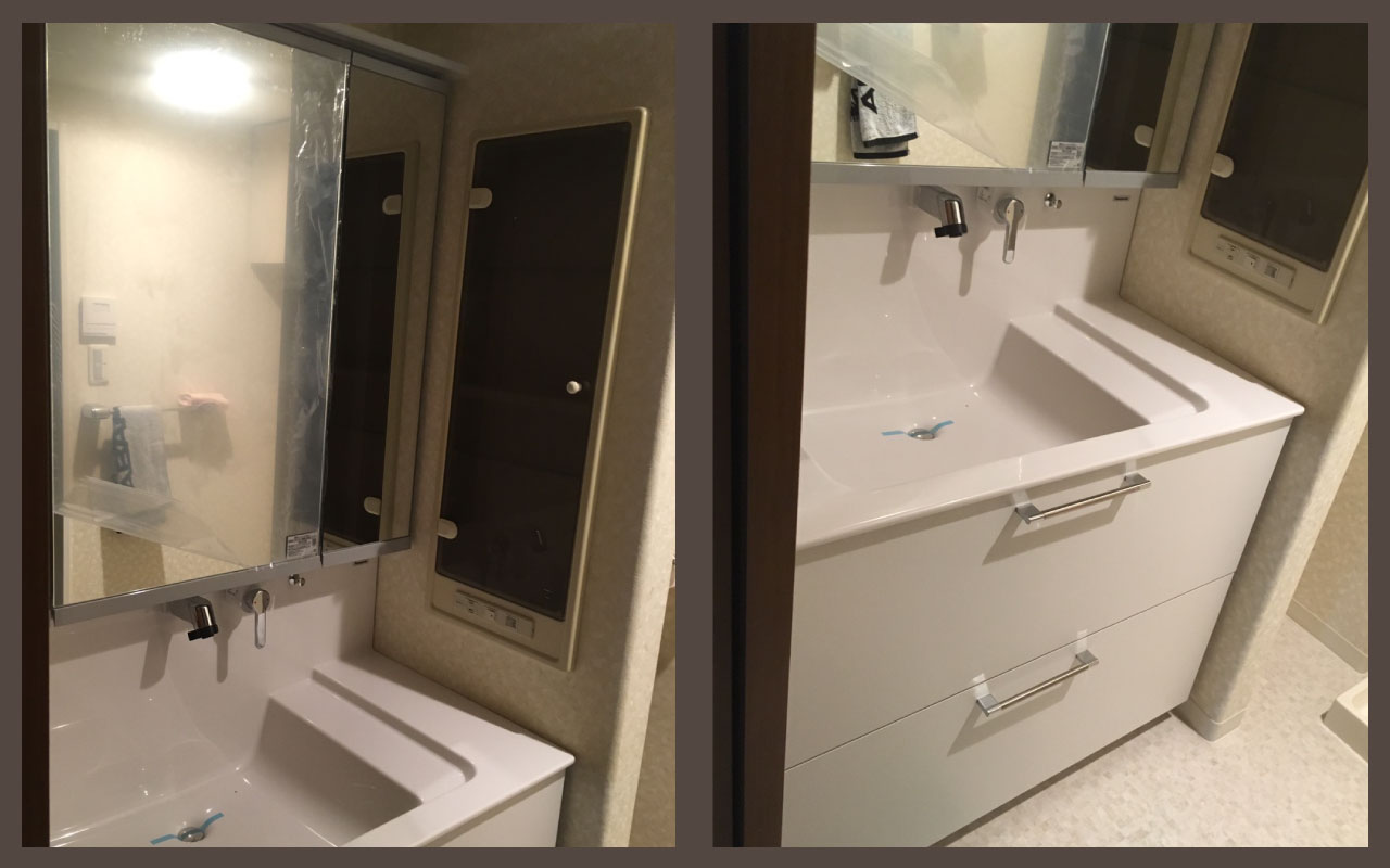 T様邸_洗面化粧台+トイレ