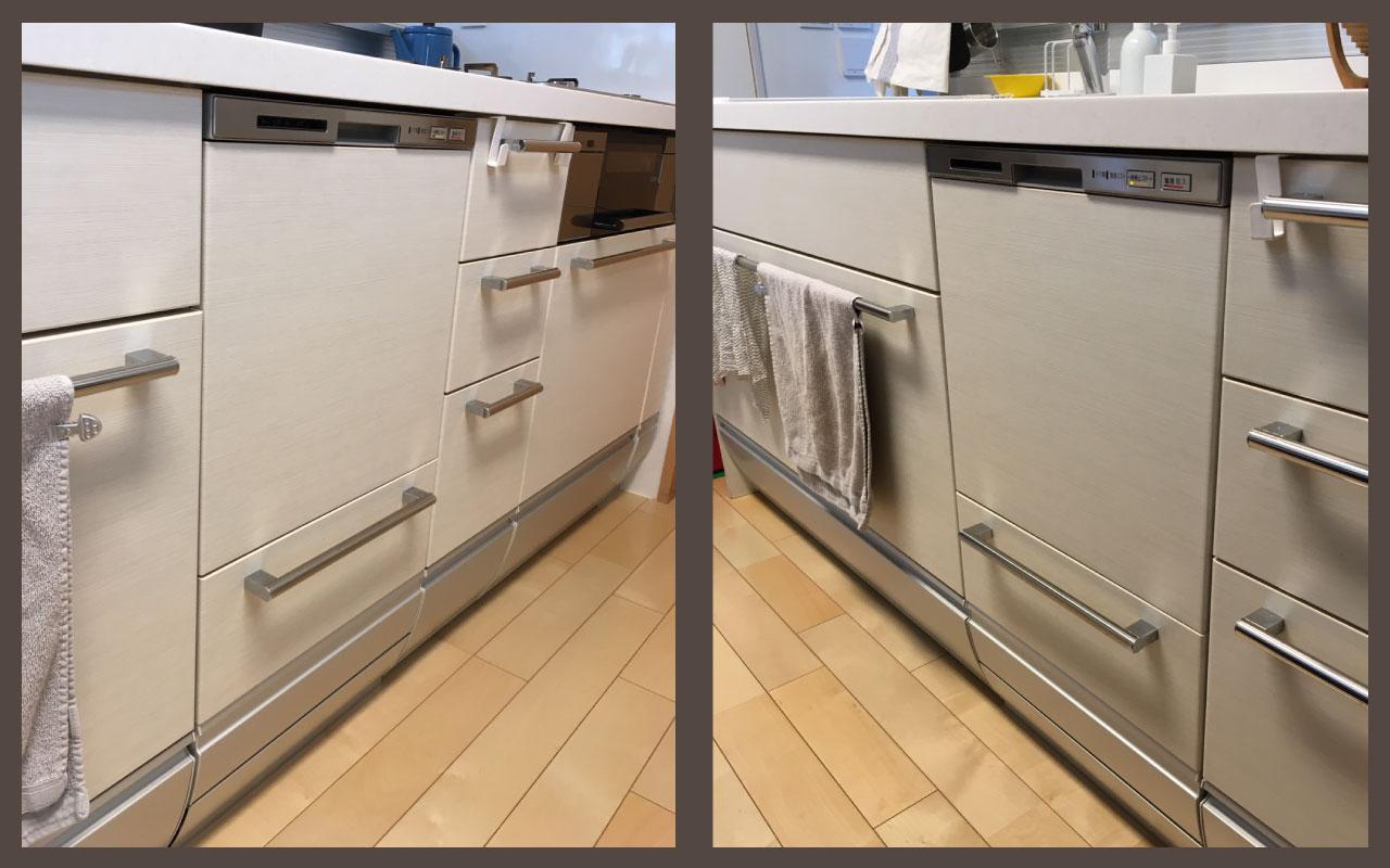 システムキッチン_既設食洗機撤去_Bosch設置施工前