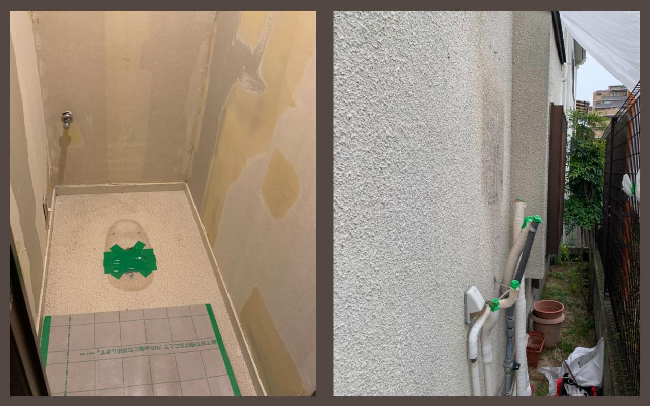 トイレ+給湯器施工前